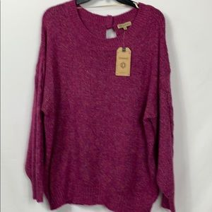 NWT Democracy plum long sleeved sweater size XL